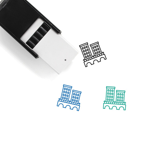 Town Self-Inking Rubber Stamp No. 129