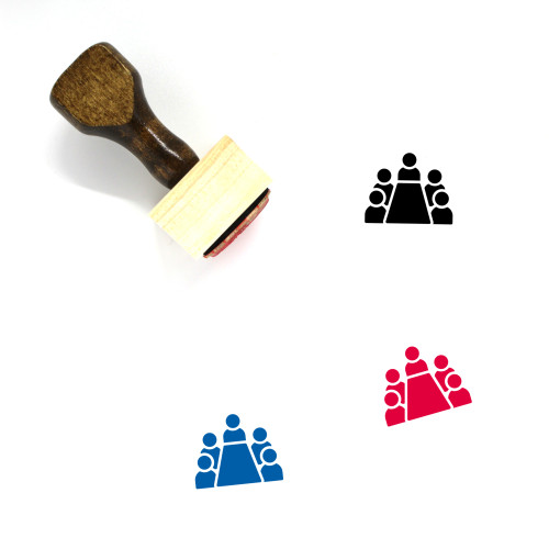 Business Meeting Wooden Rubber Stamp No. 40