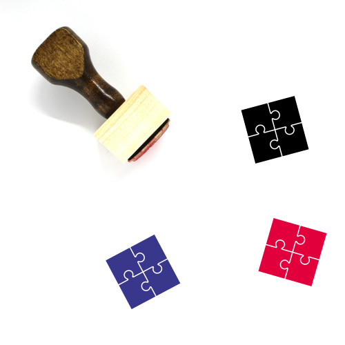 Jigsaw Puzzle Wooden Rubber Stamp No. 36