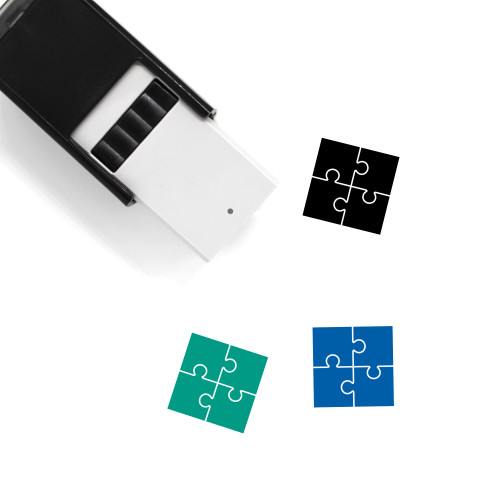 Jigsaw Puzzle Self-Inking Rubber Stamp No. 36