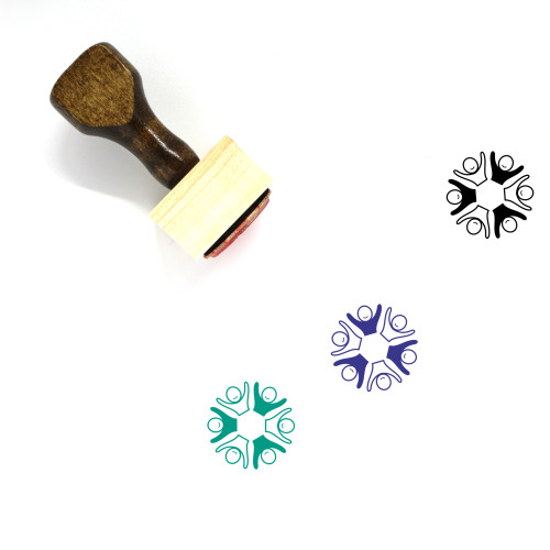 Multi Ethnic Wooden Rubber Stamp No. 1