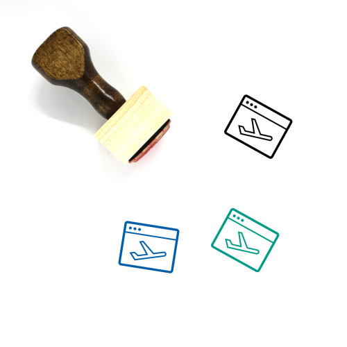 Landing Page Wooden Rubber Stamp No. 40