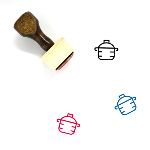 Pot Wooden Rubber Stamp No. 90