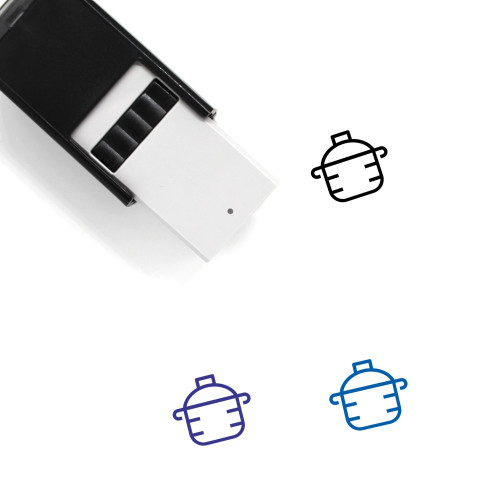 Pot Self-Inking Rubber Stamp No. 90