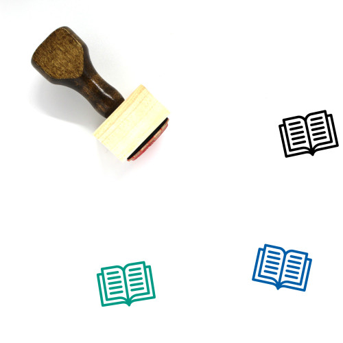Book Wooden Rubber Stamp No. 723