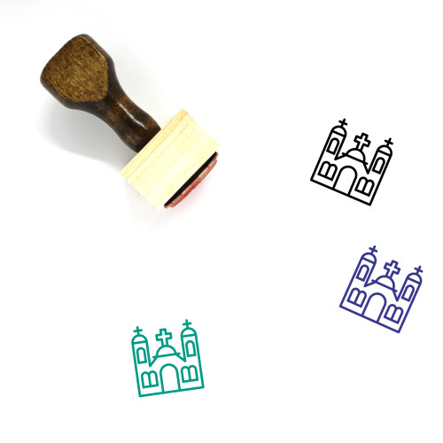 Monastery Wooden Rubber Stamp No. 1