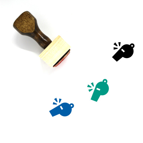 Whistle Wooden Rubber Stamp No. 59