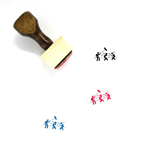 Acting Wooden Rubber Stamp No. 3
