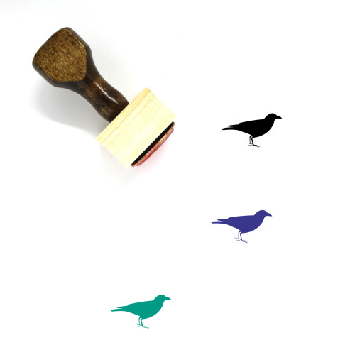 Crow Wooden Rubber Stamp No. 9