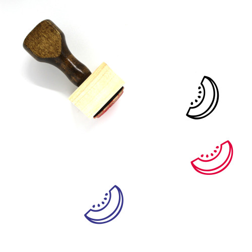 Melon Wooden Rubber Stamp No. 89