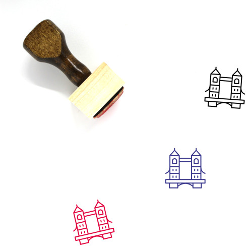 Tower Bridge Wooden Rubber Stamp No. 2