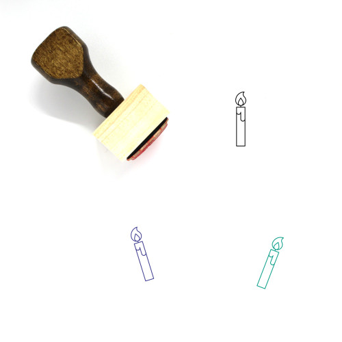 Candle Wooden Rubber Stamp No. 230