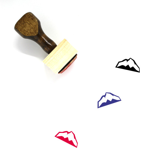 Mountain Wooden Rubber Stamp No. 189