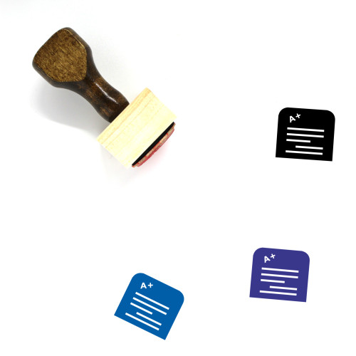 Grade Wooden Rubber Stamp No. 14