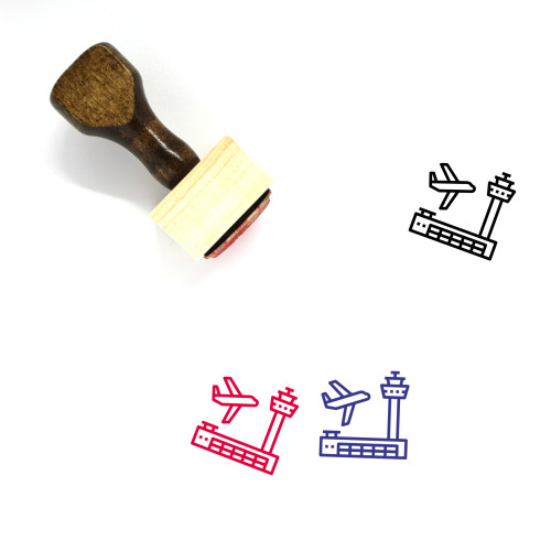 Airport Wooden Rubber Stamp No. 105