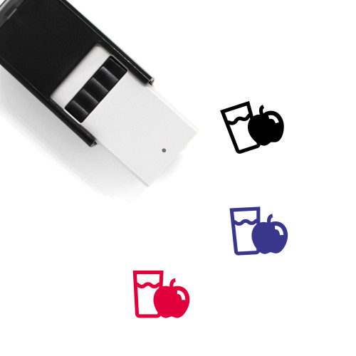 Apple Juice Self-Inking Rubber Stamp No. 34