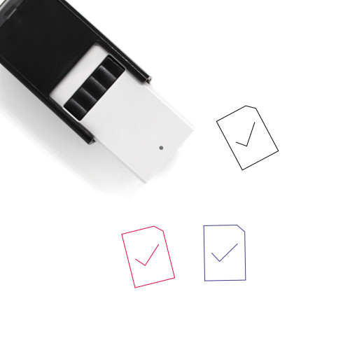 Finish Self-Inking Rubber Stamp No. 4