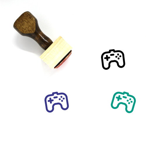 Video Game Controller Wooden Rubber Stamp No. 66