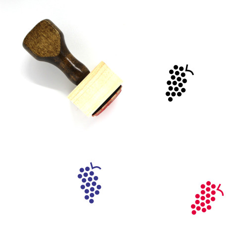 Grapes Wooden Rubber Stamp No. 65