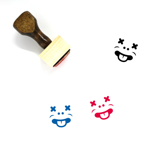 Tongue Out Wooden Rubber Stamp No. 37