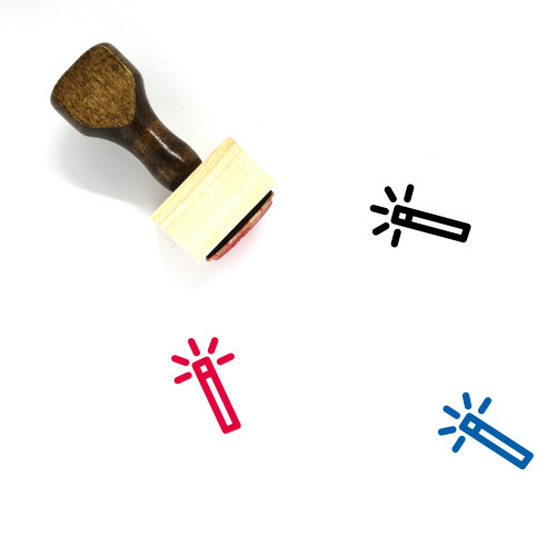Torch Wooden Rubber Stamp No. 95