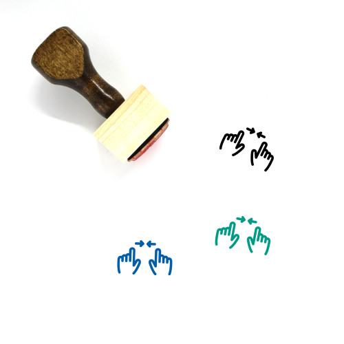 Zoom Wooden Rubber Stamp No. 75
