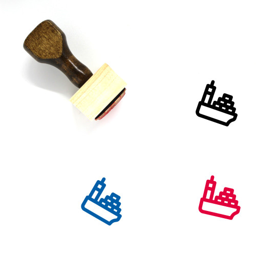 Naval Delivery Wooden Rubber Stamp No. 11