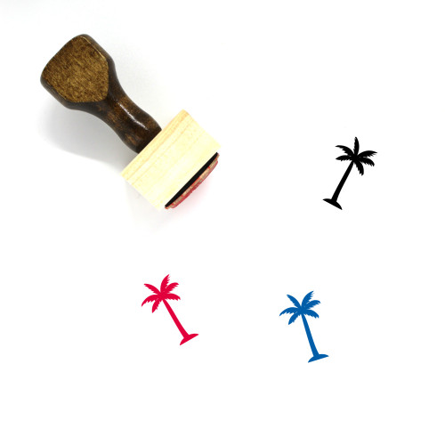 Palm Tree Wooden Rubber Stamp No. 209