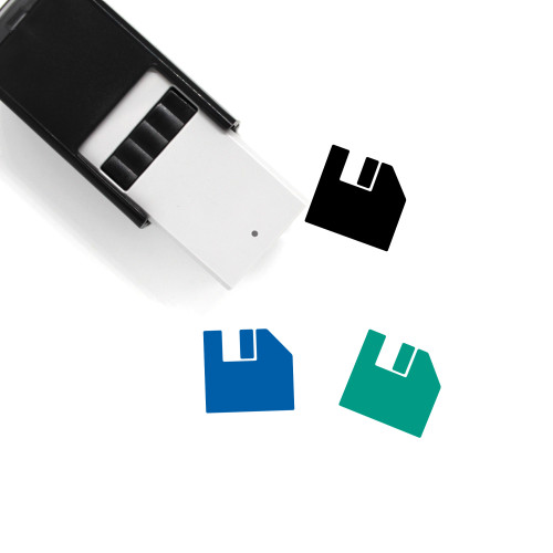 Floppy Disk Self-Inking Rubber Stamp No. 103