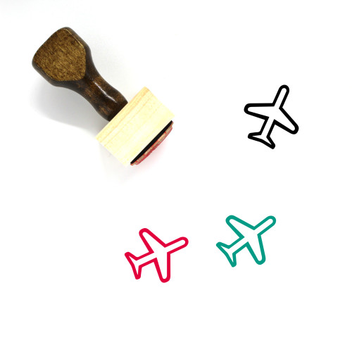 Airplane Wooden Rubber Stamp No. 348