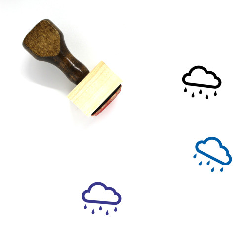 Drizzle Wooden Rubber Stamp No. 19
