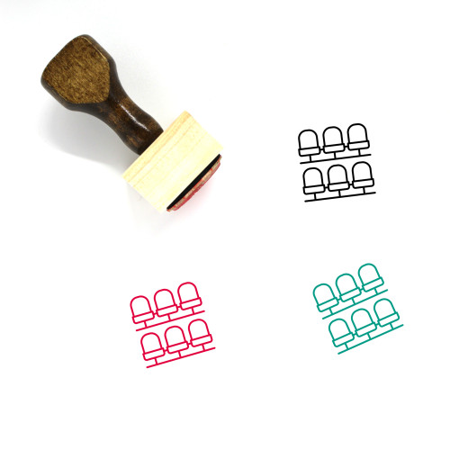 Seats Wooden Rubber Stamp No. 20