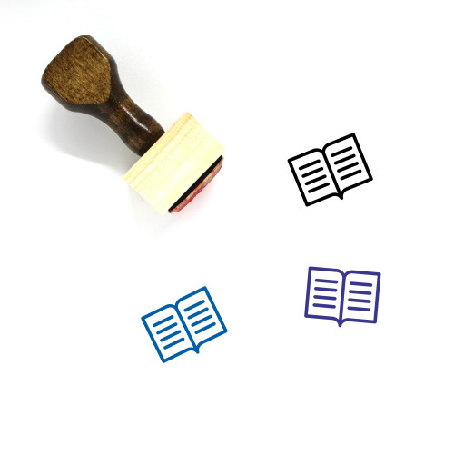 Text Book Wooden Rubber Stamp No. 23