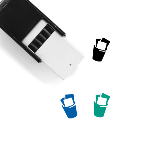 Trash Can Self-Inking Rubber Stamp No. 132