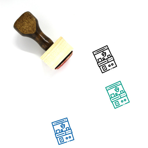 Game Wooden Rubber Stamp No. 311