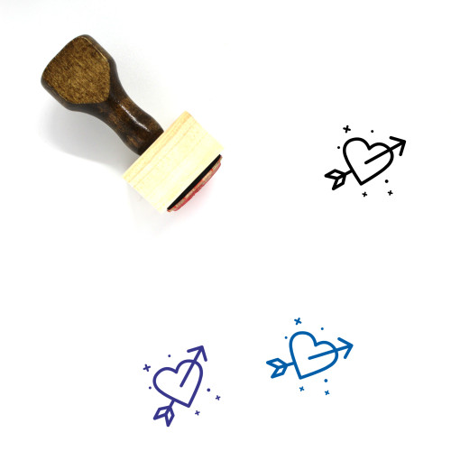 Fall In Love Wooden Rubber Stamp No. 45