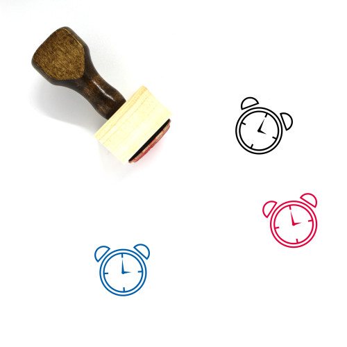 Alarm Wooden Rubber Stamp No. 71