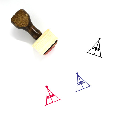 Teepee Wooden Rubber Stamp No. 5