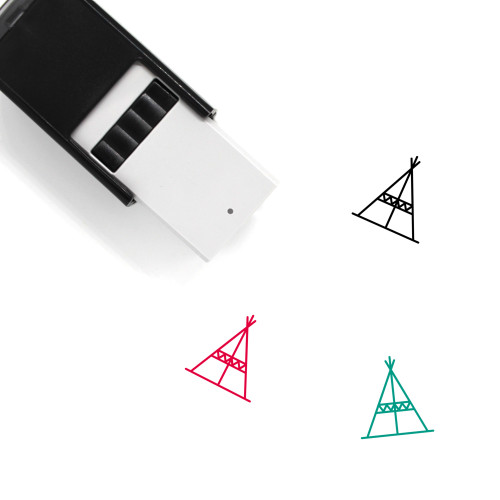 Teepee Self-Inking Rubber Stamp No. 5