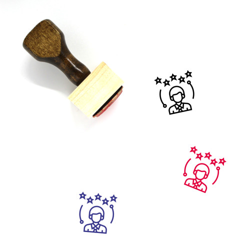 Interview Rating Wooden Rubber Stamp No. 2
