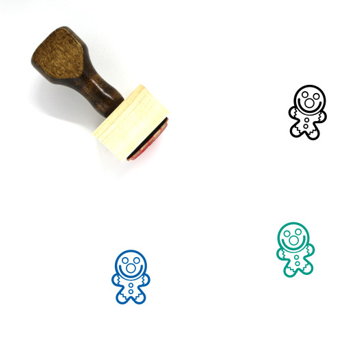 Gingerbread Man Wooden Rubber Stamp No. 111