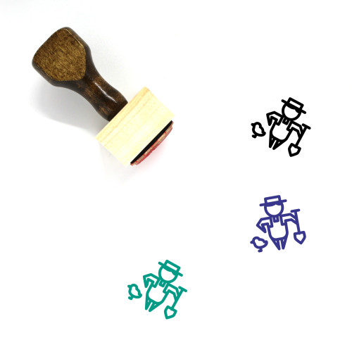 Farmer Wooden Rubber Stamp No. 59