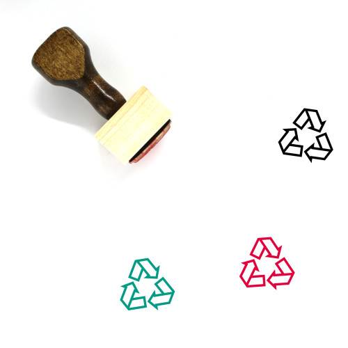 Recycling Wooden Rubber Stamp No. 12