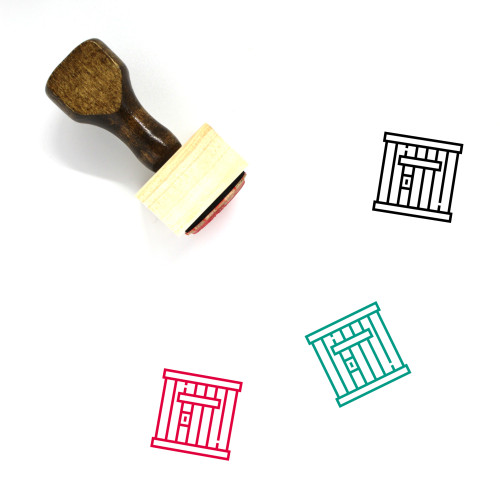 Prison Wooden Rubber Stamp No. 68