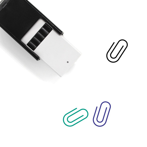 Paper Clip Self-Inking Rubber Stamp No. 112
