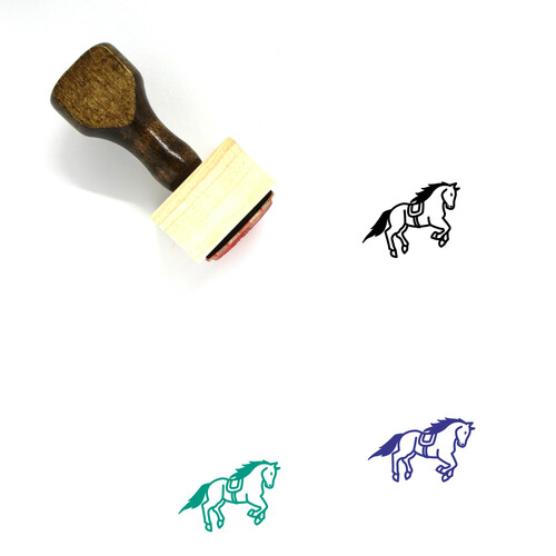 Horse Wooden Rubber Stamp No. 134