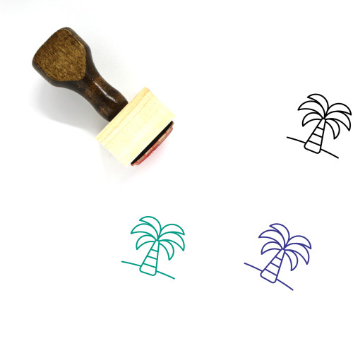 Palm Tree Wooden Rubber Stamp No. 210