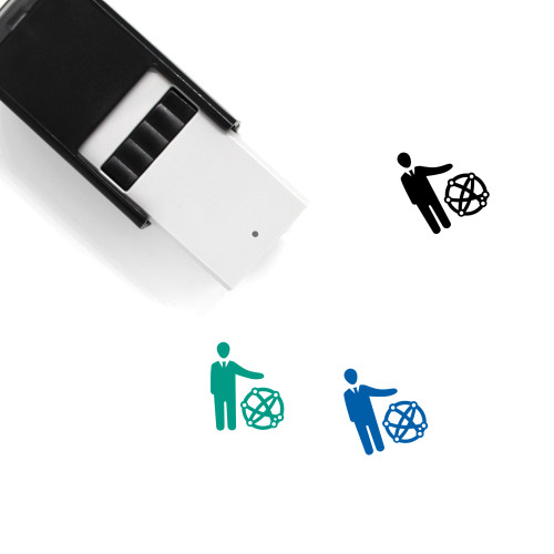 Global Business Self-Inking Rubber Stamp No. 41