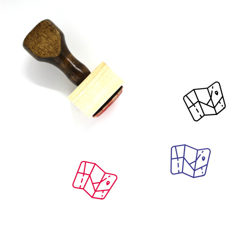 Map Wooden Rubber Stamp No. 723