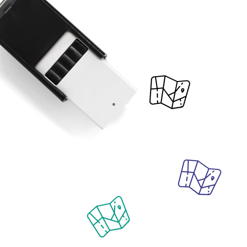 Map Self-Inking Rubber Stamp No. 723